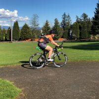 Laura Andersen on Bike